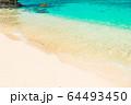 宮古島のビーチ アニメ風 64493450