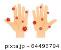 手とコロナウイルス 64496794