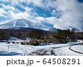 雪の浅間山 64508291