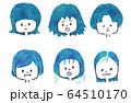 髪の悩みイラスト 64510170
