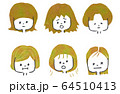 髪の毛のお悩み イメージイラスト 64510413