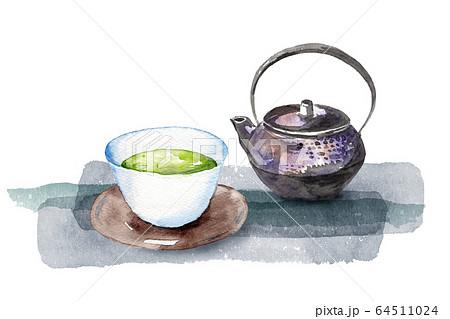 日本茶水彩画 64511024