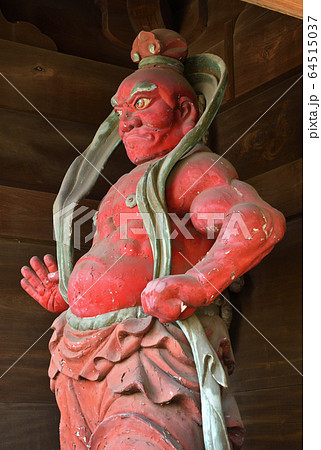 世田谷散歩:九品仏浄真寺 仁王門の金剛力士像 64515037