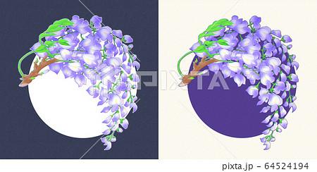 藤の花(背景あり) 64524194