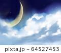 星空 宇宙 景色 惑星 三日月 64527453