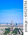 パリの街並み エッフェル塔 フランス 64529794