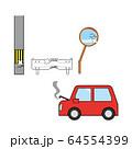 自動車 車 自損事故 物損事故 64554399