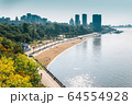 Amur river and city in Khabarovsk, Russia 64554928