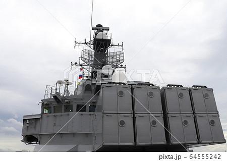 護衛艦のアスロック対潜ミサイルランチャーの写真素材 [64555242] - PIXTA