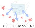 マスク コロナウイルス 64557101