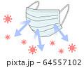 マスク ウイルス 64557102
