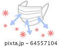 マスク ウイルス 64557104