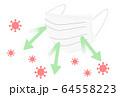マスク コロナウイルス 64558223