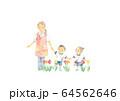 幼稚園児と保母さん、お散歩 64562646