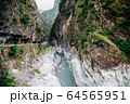 River and mountain in Taroko National Park, Taiwan 64565951