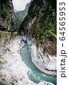 River and mountain in Taroko National Park, Taiwan 64565953