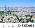 パリの街並み エッフェル塔 フランス 64565964