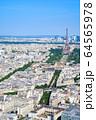 パリの街並み エッフェル塔 フランス 64565978