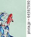 鯉の滝登り-錦鯉-水飛沫-水-躍動感 64567590