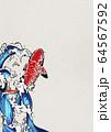 鯉の滝登り-錦鯉-水飛沫-水-躍動感 64567592