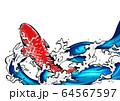 鯉の滝登り-錦鯉-水飛沫-水-躍動感-png 64567597