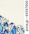 水しぶき-浮世絵-波-エフェクト-水-日本-白い紙 64567600