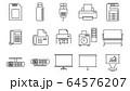 ラインアイコン オフィス機器 64576207