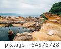 Yehliu Geopark, rock formation and sea in Taiwan 64576728