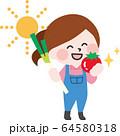 二頭身_農作業A02 64580318