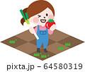 二頭身_農作業A03 64580319
