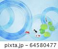 波紋-和紙-日本画-暑中見舞い-清涼感-水 64580477