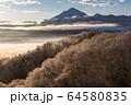 雪と雲海と武甲山 64580835