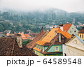 Sighisoara old town panorama view in Romania 64589548