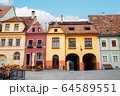 Sighisoara old town Fortress square in Romania 64589551