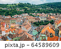 Sighisoara old town panorama view in Romania 64589609