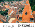 Sighisoara old town panorama view in Romania 64589611