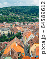 Sighisoara old town panorama view in Romania 64589612
