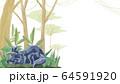 トリケラトプスと森林背景フレーム 64591920