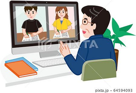 オンライン授業 64594093