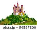 丘の上のヨーロッパの城 64597800