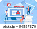 Security System Cyber Attack Danger Scam Warning 64597870