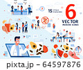 Family Healthy Nutrition Flat Vector Scenes Set 64597876