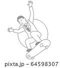 スポーツ 男性 スケートボード 64598307