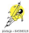 スポーツ 女性 スポーツクライミング 64598319