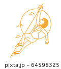 スポーツ 女性 スポーツクライミング 64598325