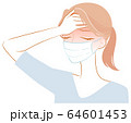 熱がある女性 64601453