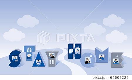 家にいよう_stay home,Townscape,sky,clouds 64602222
