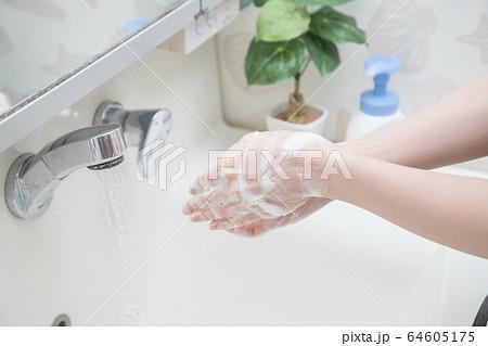 手を洗う 64605175