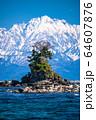 《富山県》雨晴海岸・女岩と立山連峰 64607876