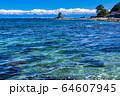 《富山県》雨晴海岸・女岩と立山連峰 64607945